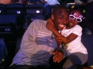 Me and my daughter at the Andre Ward fight 5 years ago.